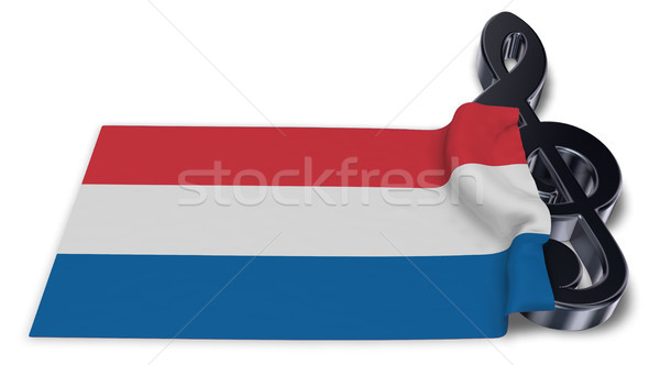 clef and dutch flag - 3d rendering Stock photo © drizzd