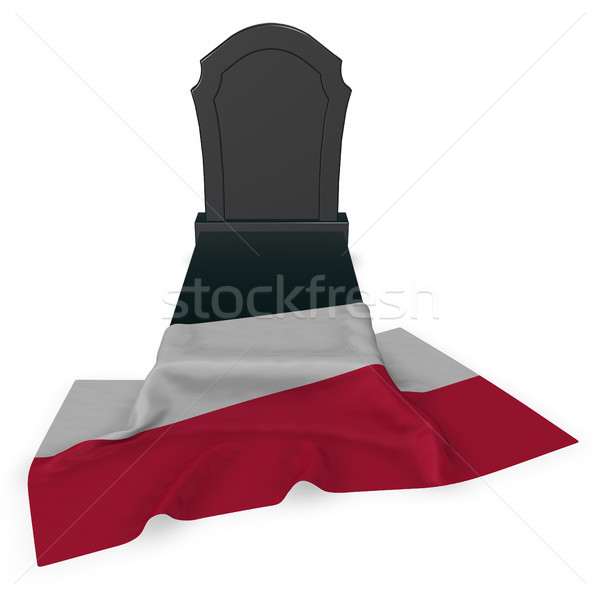 Lápida sepulcral bandera 3D muerte piedra Foto stock © drizzd
