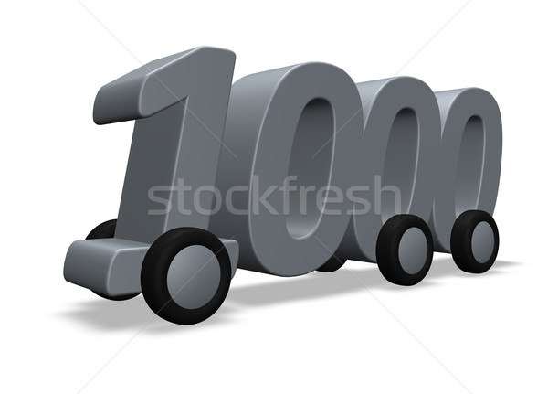 one thousand on wheels Stock photo © drizzd