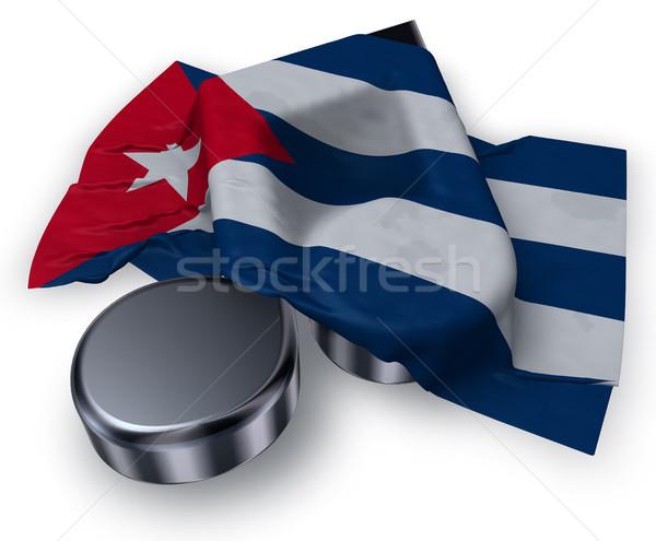 Müzik dikkat bayrak Küba 3D Stok fotoğraf © drizzd