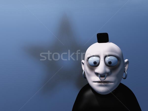 Cartoon gótico 3d pelo signo retrato Foto stock © drizzd