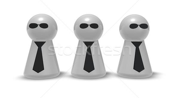 играть галстук солнце очки 3d иллюстрации бизнеса Сток-фото © drizzd