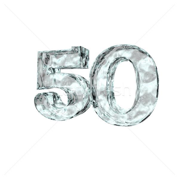 заморожены пятьдесят числа 50 белый 3d иллюстрации Сток-фото © drizzd