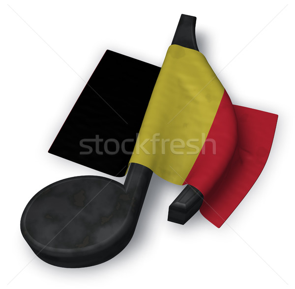 music note and flag of belgium - 3d rendering Stock photo © drizzd