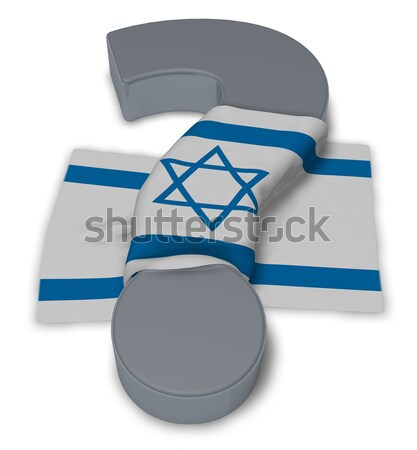 female symbol and flag of israel - 3d rendering Stock photo © drizzd