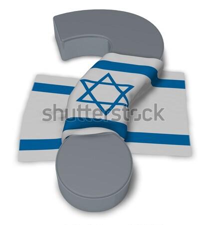 Weiblichen Symbol Flagge 3D Rendering Liebe Stock foto © drizzd