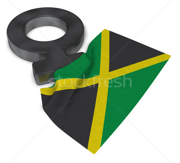 venus symbol and flag of jamaica - 3d rendering Stock photo © drizzd