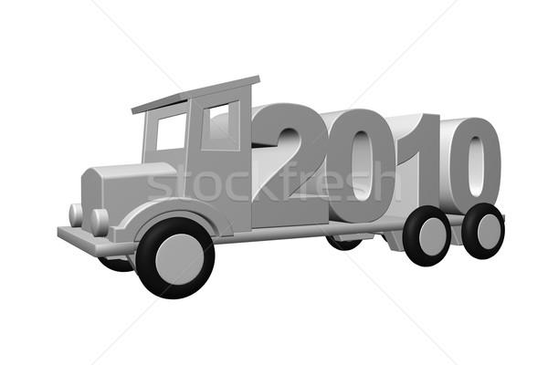 год 2010 старые грузовика 3d иллюстрации время Сток-фото © drizzd
