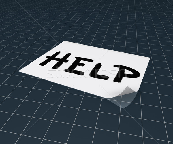 the word help on paper sheet - 3d rendering Stock photo © drizzd