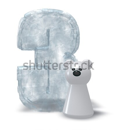 ice dollar symbol and white bear pawn - 3d rendering Stock photo © drizzd
