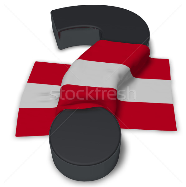 question mark and flag of austria - 3d illustration Stock photo © drizzd
