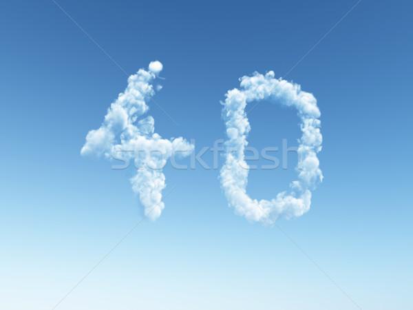 Bulutlu kırk bulutlar biçim numara 3d illustration Stok fotoğraf © drizzd
