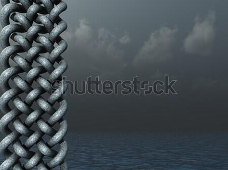 Celtic design buio acqua panorama illustrazione 3d Foto d'archivio © drizzd