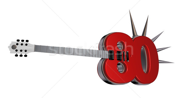 number eighty guitar Stock photo © drizzd