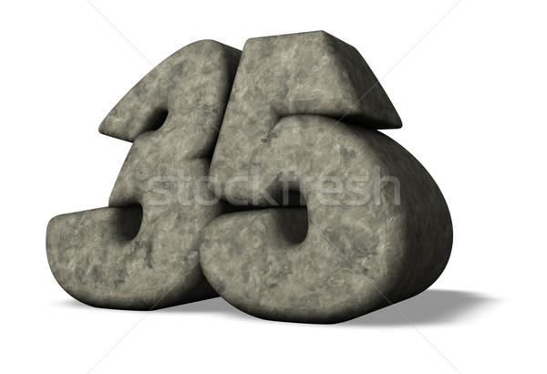 Nombre trente cinquième pierre 3d illustration anniversaire Photo stock © drizzd