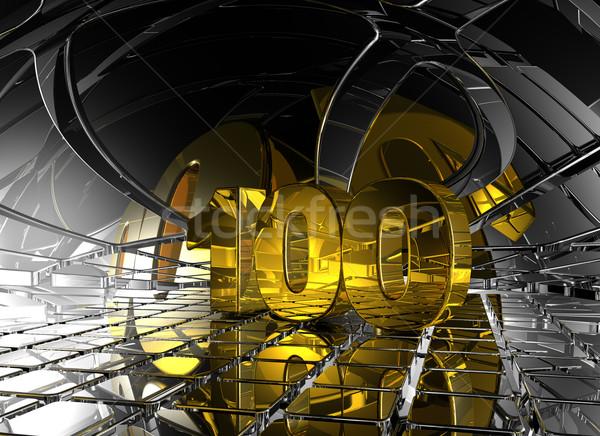 Een honderd abstract futuristische ruimte Stockfoto © drizzd