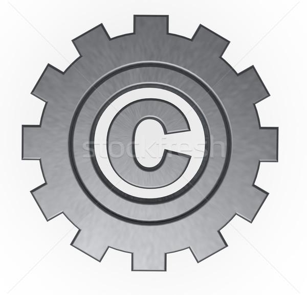 著作権 シンボル ギア ホイール 3次元の図 ビジネス ストックフォト © drizzd