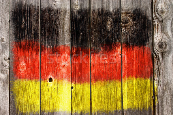 Renkler eski ahşap yara arka plan siyah Stok fotoğraf © drizzd