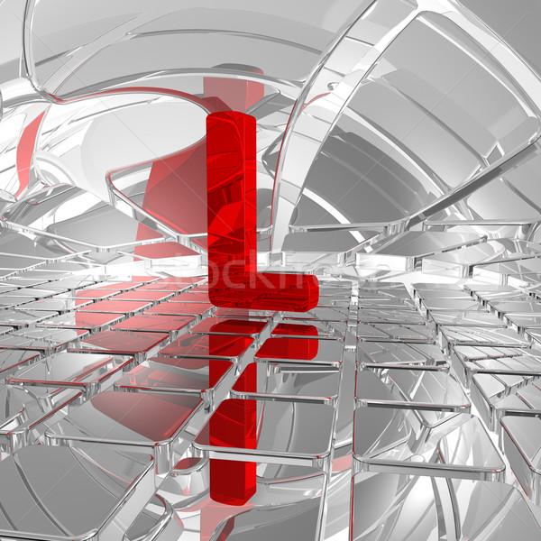 Futurista espaço vermelho letra l ilustração 3d abstrato Foto stock © drizzd