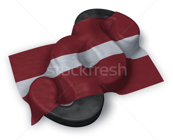 Absatz Symbol Flagge 3D Rendering Stock foto © drizzd
