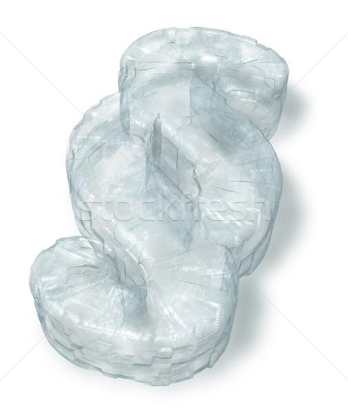 Eis Absatz Symbol weiß 3D Rendering Stock foto © drizzd