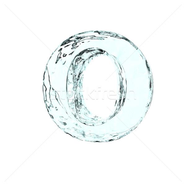 Fagyott o betű fehér 3d illusztráció tél levél Stock fotó © drizzd