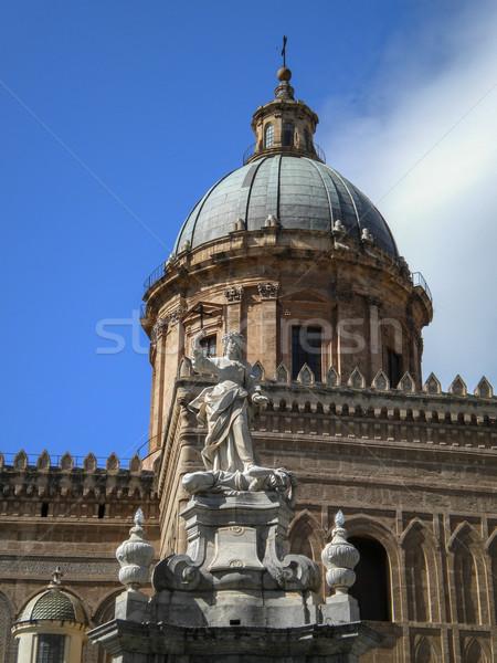 Cattedrale di Maria Santissima Assuanta di Palermo in Sicilia Stock photo © Dserra1