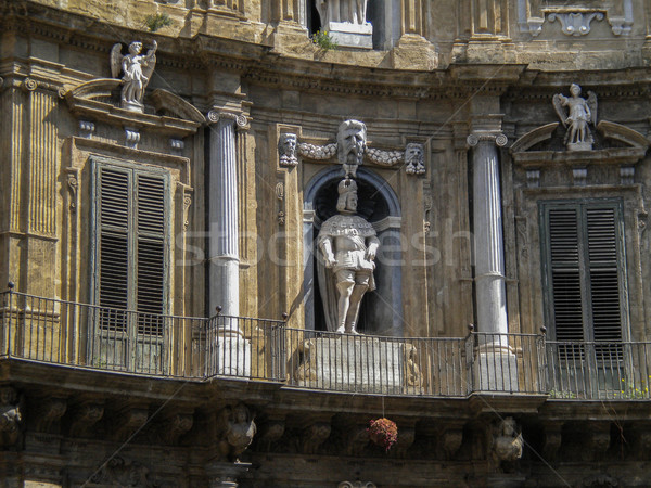 четыре уголки здании искусства ретро архитектура Сток-фото © Dserra1