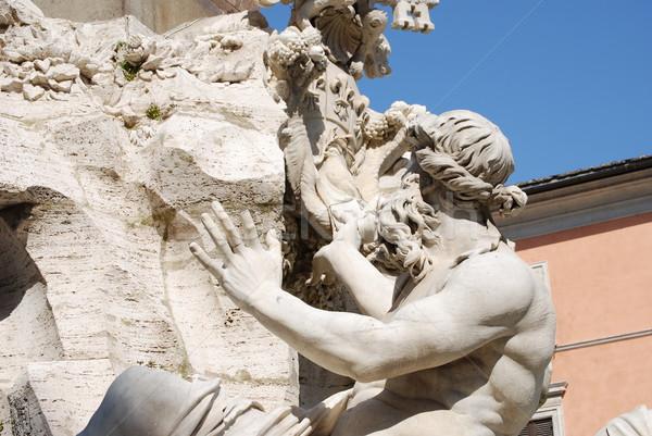 Rome, Piazza Navona, Fountain from Bernini in Italy Stock photo © Dserra1