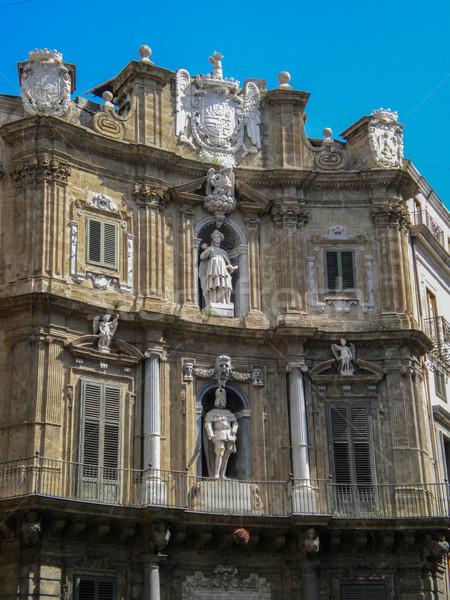 Quattro Canti in Palermo (four corners) Stock photo © Dserra1