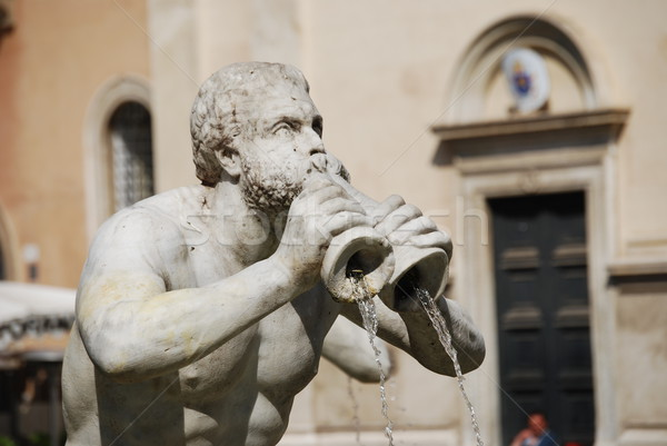 Fontana del Moro in Piazza Navona. Rome, Italy Stock photo © Dserra1