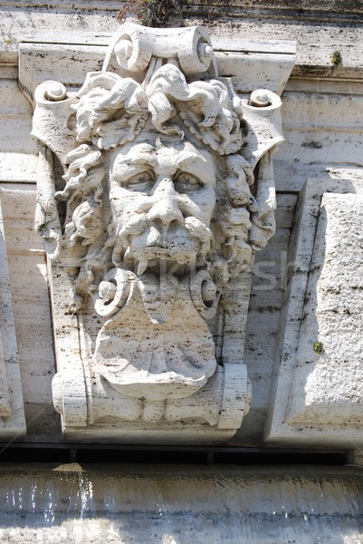 Architectural detail of the facade of the Palace of Justice in Rome, Italy Stock photo © Dserra1
