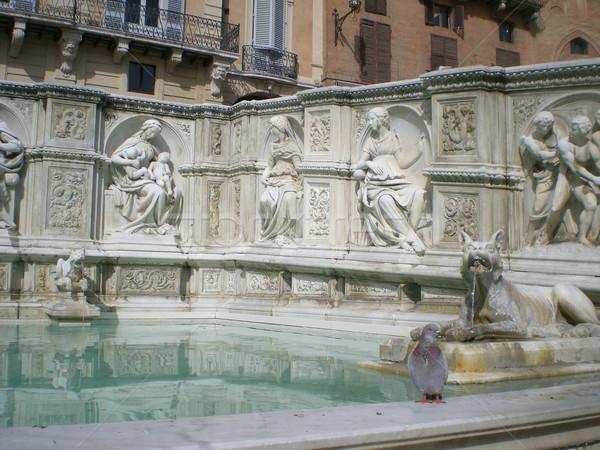 Fonte Gaia (Fountain of Joy)in Siena. Italy, Europe Stock photo © Dserra1