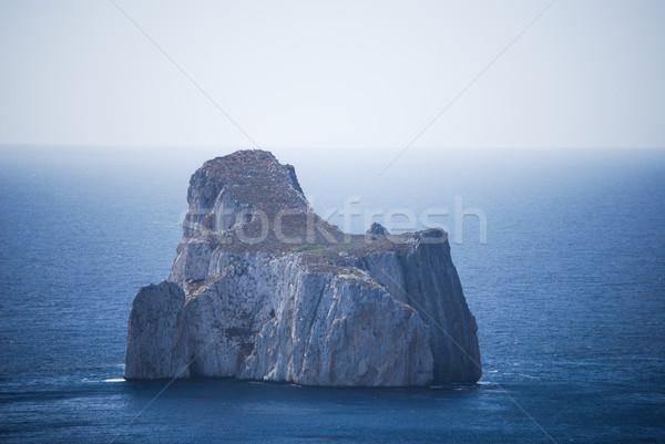 Shot of the islet of limestone Pan di Zucchero, on the coast of Nebida-Masua in south-western Sardin Stock photo © Dserra1