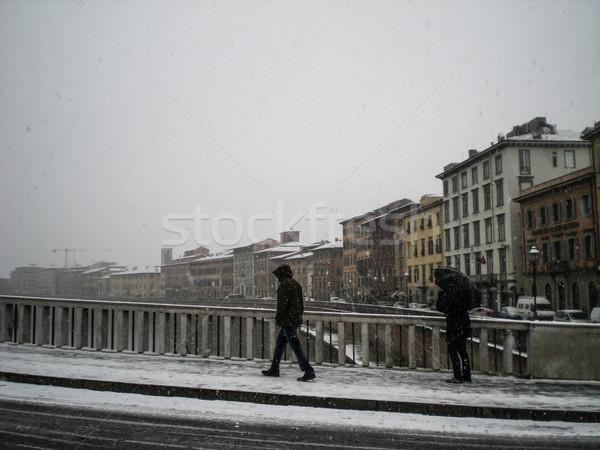 Pisa under the snow Stock photo © Dserra1