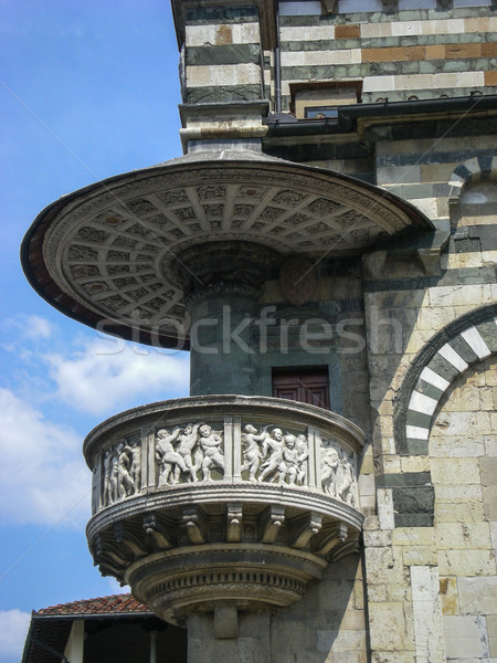 Toszkána Olaszország katedrális égbolt épület város Stock fotó © Dserra1