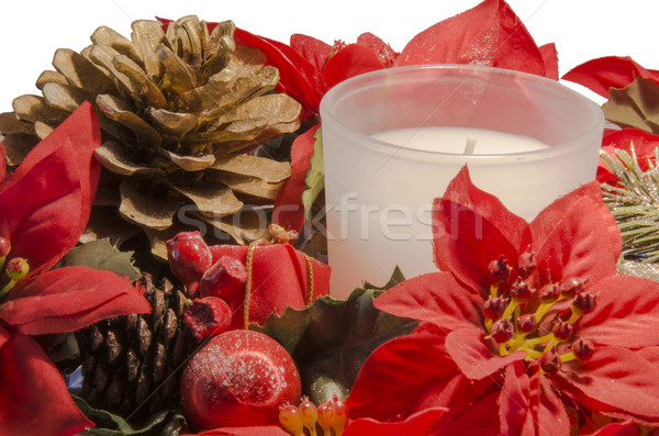 Christmas candles Stock photo © Dserra1