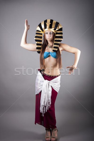 Dans zoals egyptische portret vrouwelijke witte Stockfoto © dukibu