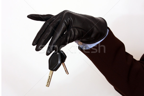 Femenino mano las llaves del coche negocios Foto stock © dukibu