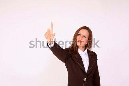 女性 プッシング ボタン 肖像 ビジネス オフィス ストックフォト © dukibu