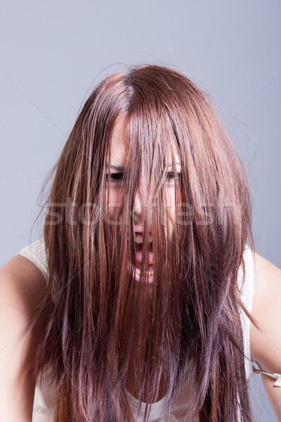 怖い 女性 ホラー 肖像 少女 顔 ストックフォト © dukibu