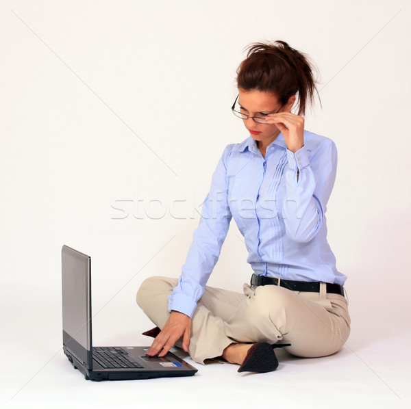 Young woman with lap top computer Stock photo © dukibu