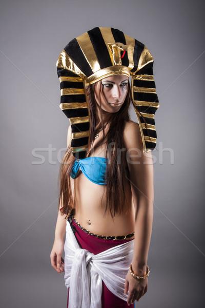 Kraliçe Mısır portre yüz güzellik kırmızı Stok fotoğraf © dukibu