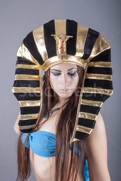 ストックフォト: クイーン · エジプト · 肖像 · 顔 · 美 · 赤