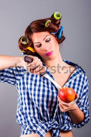 セクシー 主婦 肖像 女性 髪 口 ストックフォト © dukibu
