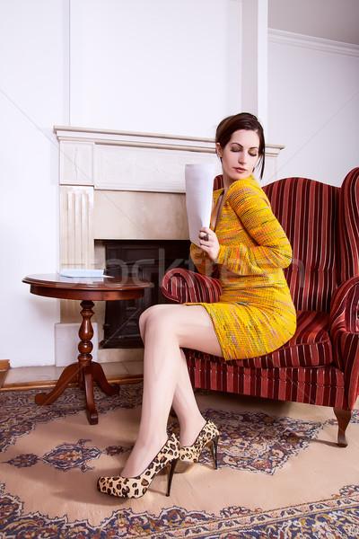 Сток-фото: романтические · девушки · любви · письме · портрет · бумаги