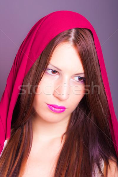 美しい アラビア語 女性 目 肖像 ストックフォト © dukibu