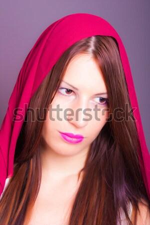 美しい アラブ 女性 少女 図書 ストックフォト © dukibu