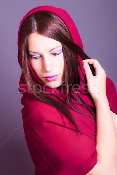 美しい アラビア語 女性 顔 女性 ストックフォト © dukibu