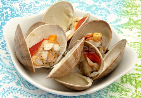 Birkaç taze gıda balık arka plan pişirme Stok fotoğraf © dulsita